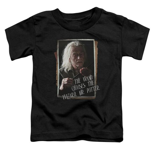 Harry Potter Olivander Short Sleeve Toddler Tee Black T-Shirt