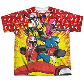 Power Rangers Go Go Ninja Steel Short Sleeve Youth Poly Crew T-Shirt