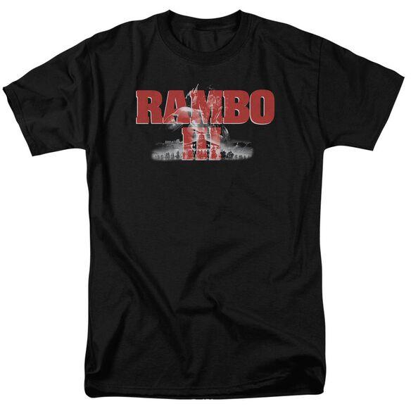 Rambo Iii John Rambo Short Sleeve Adult Black T-Shirt