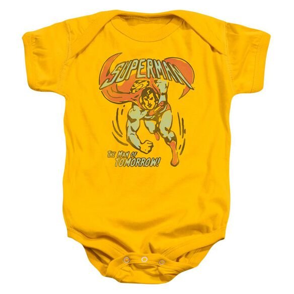 Dc Tomorrow Man Infant Snapsuit Gold