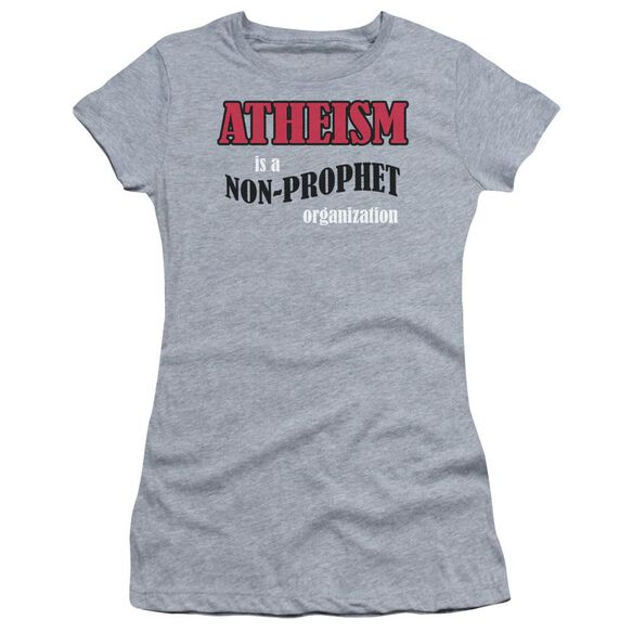 Atheism Short Sleeve Junior Sheer Athletic T-Shirt