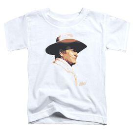 John Wayne Painted Profile Short Sleeve Toddler Tee White T-Shirt