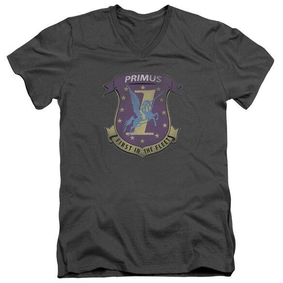 Bsg Primas Badge Short Sleeve Adult V Neck T-Shirt