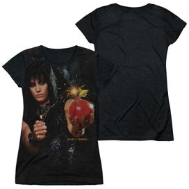 Joan Jett Cherry Bomb Short Sleeve Junior Poly Black Back T-Shirt