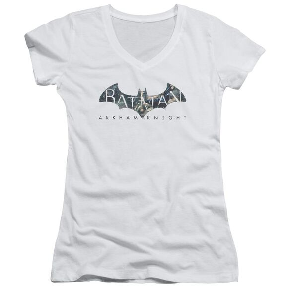 Batman Arkham Knight Descending Logo Junior V Neck T-Shirt