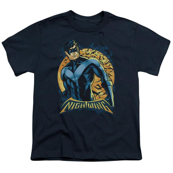 Batman Nightwing Moon Short Sleeve Youth T-Shirt