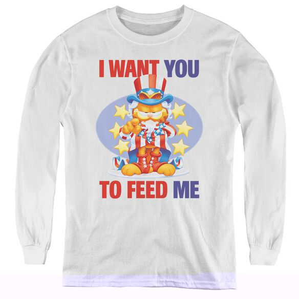 Garfield I Want You - Youth Long Sleeve Tee