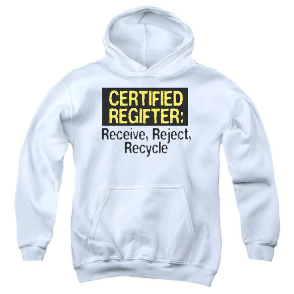 Certified Regifter Youth Pull Over Hoodie