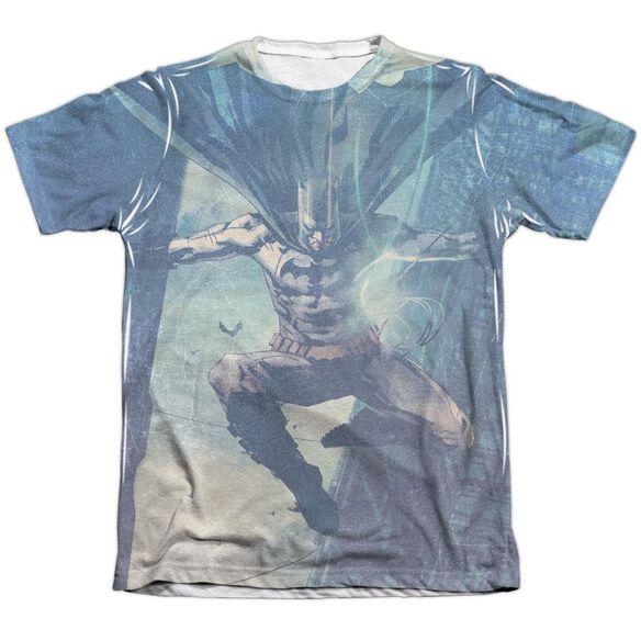 Batman Skyscrapers Adult Poly Cotton Short Sleeve Tee T-Shirt