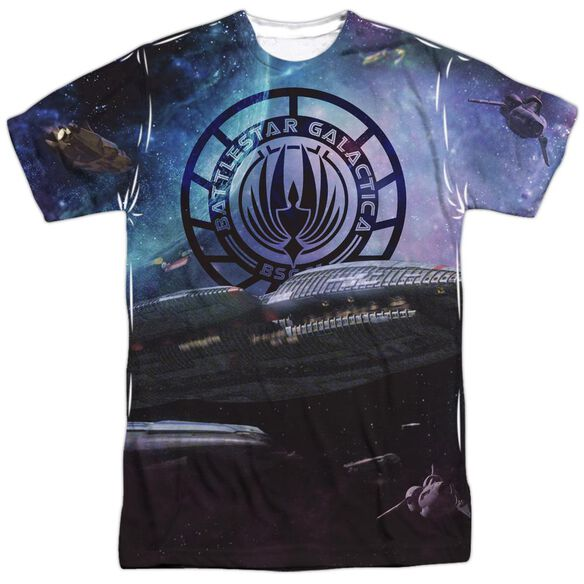 Bsg (New) Star Crusing Short Sleeve Adult Poly Crew T-Shirt