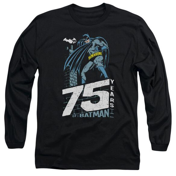 Batman Rooftop Long Sleeve Adult T-Shirt