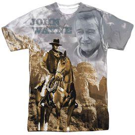 John Wayne Ride Em Cowboy Short Sleeve Adult Poly Crew T-Shirt