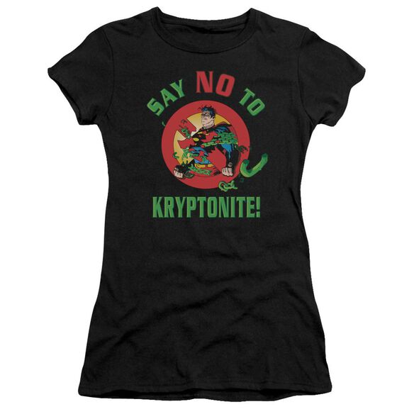 Superman Say No To Kryptonite Premium Bella Junior Sheer Jersey