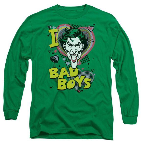 Dc I Heart Bad Boys 2 Long Sleeve Adult Kelly T-Shirt