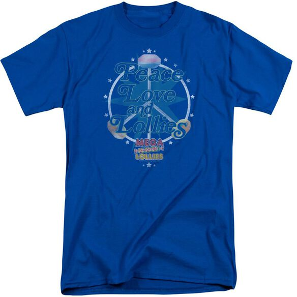 Smarties Peace Lollies Short Sleeve Adult Tall Royal T-Shirt