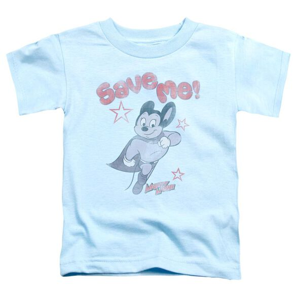 Mighty Mouse Save Me Short Sleeve Toddler Tee Light Blue T-Shirt