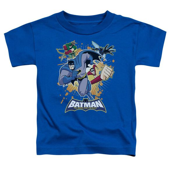 Batman Bb Burst Into Action Short Sleeve Toddler Tee Royal Blue Lg T-Shirt
