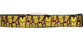 Iron Man Classic Head Collage Seatbelt Mesh Belt