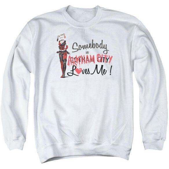 Arkham City Somebody Loves Me Adult Crewneck Sweatshirt