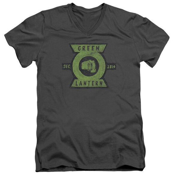 Green Lantern Section Short Sleeve Adult V Neck T-Shirt