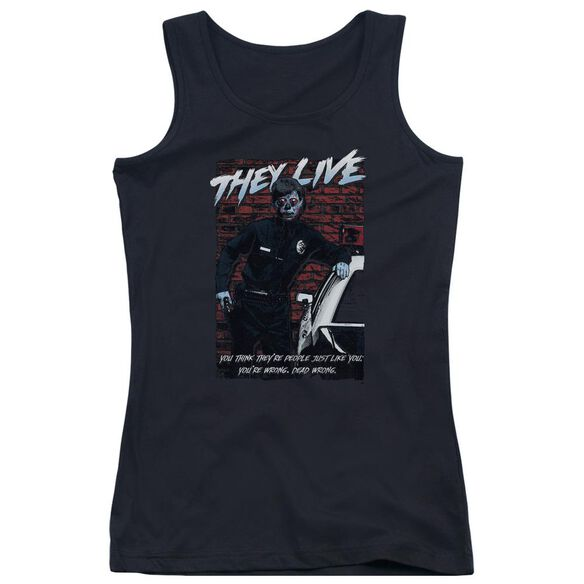 They Live Dead Wrong Juniors Tank Top