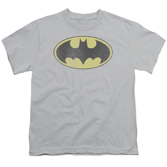 Dc Retro Bat Logo Distressed Short Sleeve Youth T-Shirt