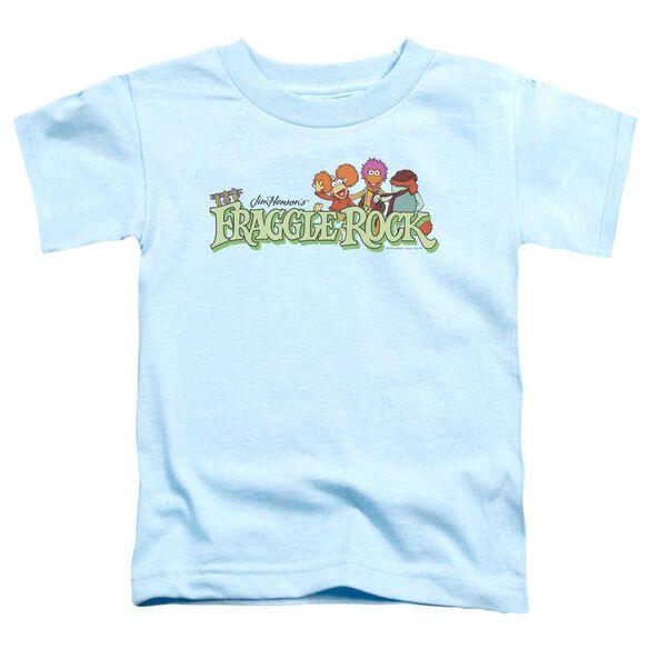 Fraggle Rock Leaf Logo Short Sleeve Toddler Tee Light Blue T-Shirt