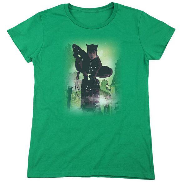 Batman Catwoman #63 Cover Short Sleeve Womens Tee Kelly T-Shirt