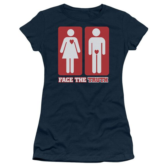 Face The Truth Short Sleeve Junior Sheer T-Shirt