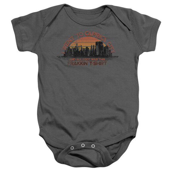 Bsg Caprica City - Infant Snapsuit - Charcoal - Sm