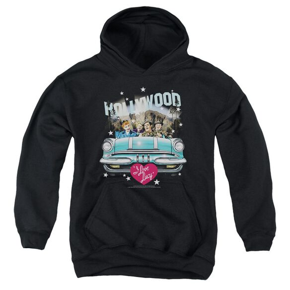 I Love Lucy Hollywood Road Trip Youth Pull Over Hoodie