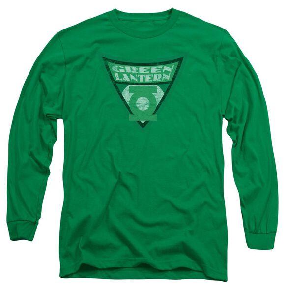 Batman Bb Lantern Shield Long Sleeve Adult Kelly T-Shirt