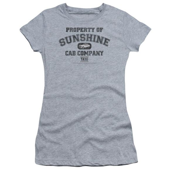 Taxi Property Of Sunshine Cab Short Sleeve Junior Sheer Athletic T-Shirt