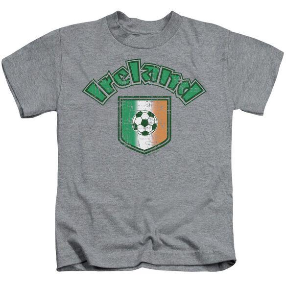 Ireland With Soccer Flag Short Sleeve Juvenile Athletic T-Shirt