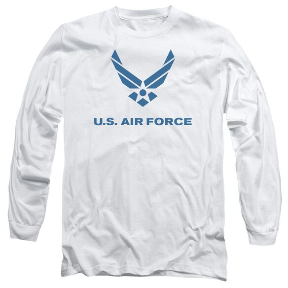 Air Force Distressed Logo Long Sleeve Adult T-Shirt
