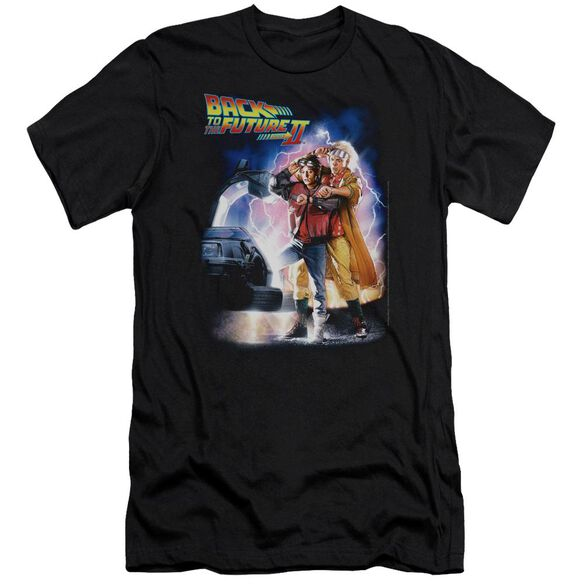 Back To The Future Ii Poster Premuim Canvas Adult Slim Fit