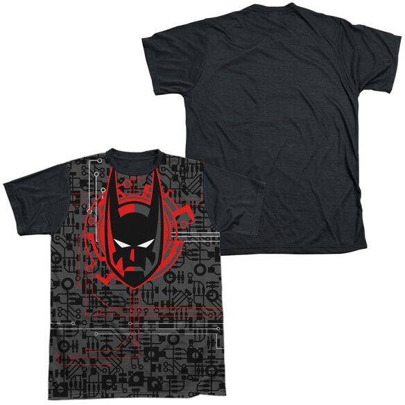 Batman Beyond Tech Cowl Short Sleeve Adult Front Black Back T-Shirt