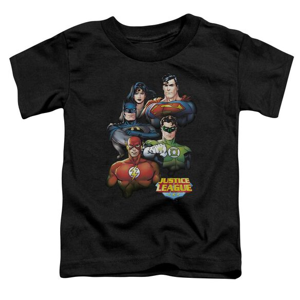 Jla Group Portrait Short Sleeve Toddler Tee Black Sm T-Shirt