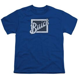 Buick Distressed Emblem Short Sleeve Youth Royal T-Shirt