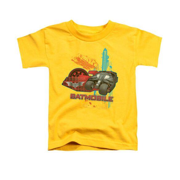 Dark Knight Tumbler Short Sleeve Toddler Tee Yellow T-Shirt