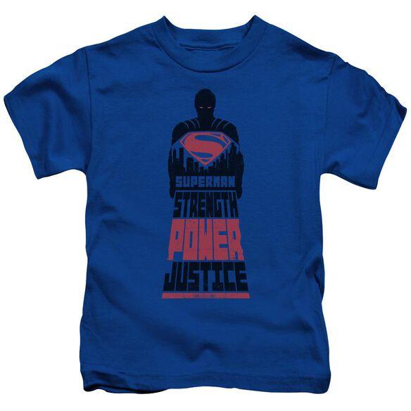 Batman V Superman Super Justice Short Sleeve Juvenile Royal Blue T-Shirt