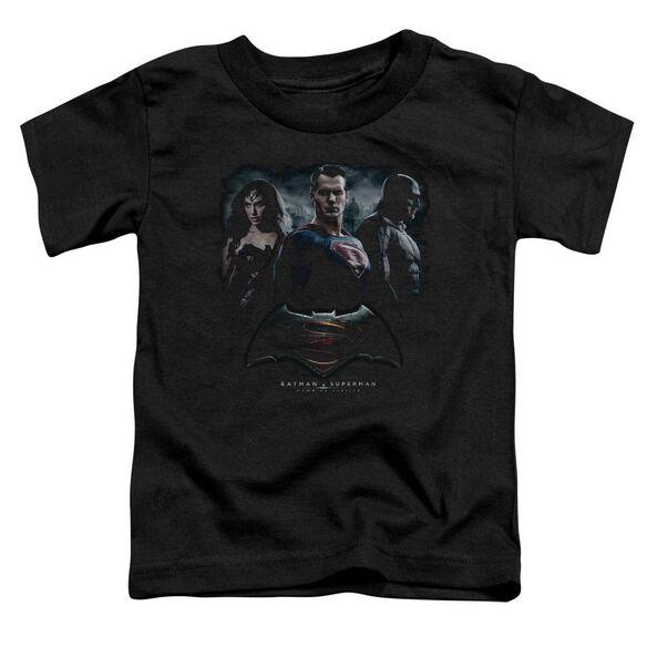 Batman V Superman The Crew Short Sleeve Toddler Tee Black T-Shirt