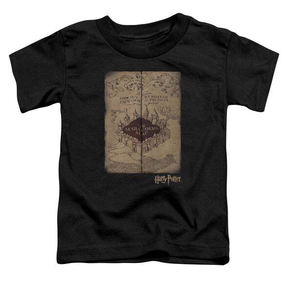 Harry Potter Marauders Map Short Sleeve Toddler Tee Black T-Shirt
