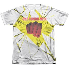 One Punch Man Shattered Adult Poly Cotton Short Sleeve Tee T-Shirt