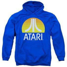 Atari Sunrise Clean Adult Pull Over Hoodie Royal