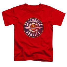 Oldsmobile Vintage Service Short Sleeve Toddler Tee Red T-Shirt