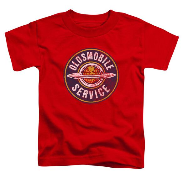 Oldsmobile Vintage Service Short Sleeve Toddler Tee Red T-Shirt