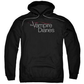 Vampire Diaries Tvd Logo Adult Pull Over Hoodie Black