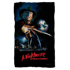 Nightmare On Elm Street Freddy Poster Fleece Blanket
