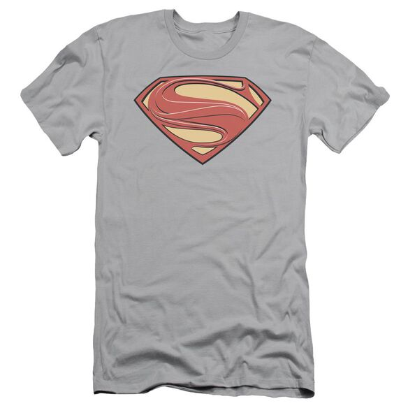Man Of Steel New Solid Shield Short Sleeve Adult T-Shirt